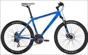 Four regular mountain bikes