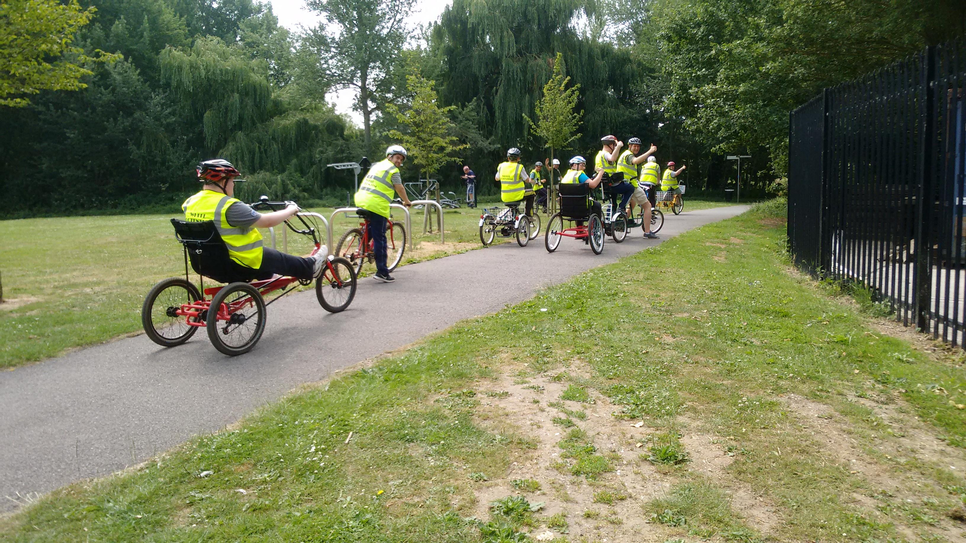 Big group cycle ride
